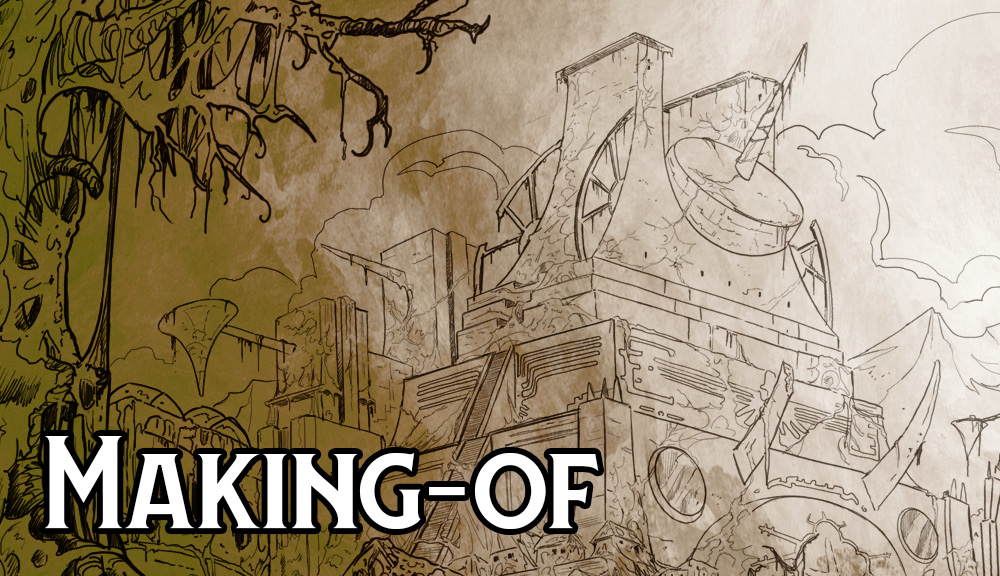 Making-of : Speed drawing des ruines astarites par Jean-Mathias Xavier