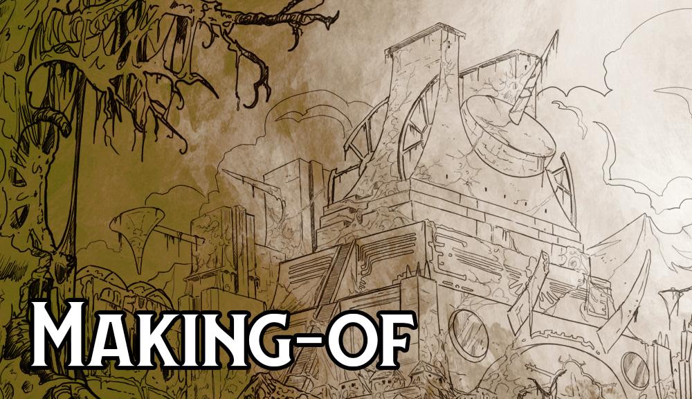 Making-of : Speed drawing des ruines astarites par Jean-Mathias Xavier