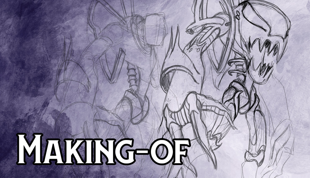Making-of : Speed drawing d'un esprit Métallié par Jean-Mathias Xavier