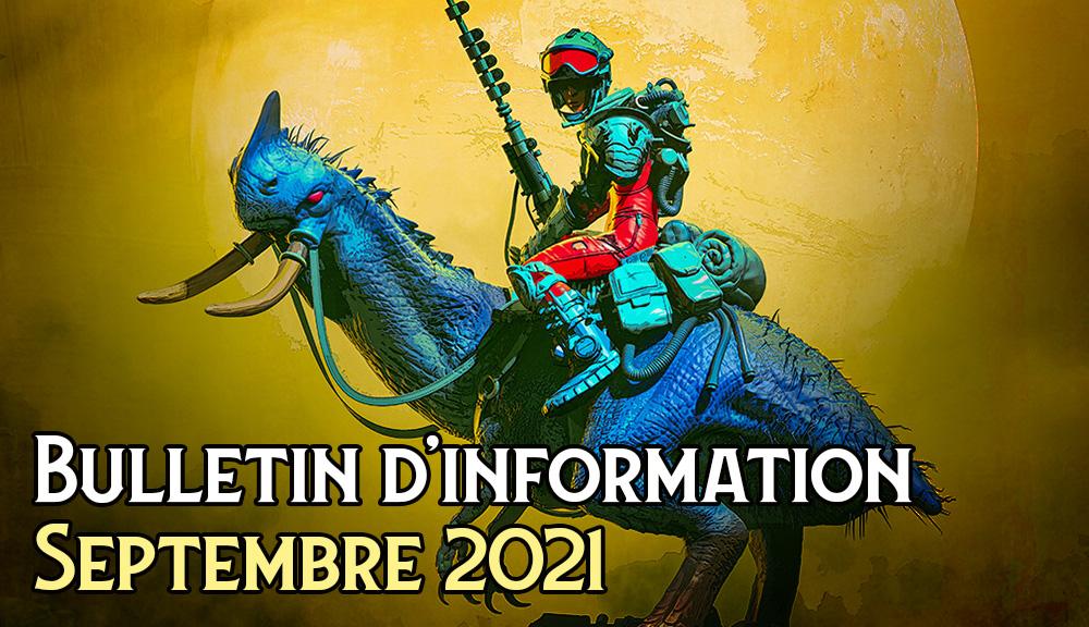 Bulletin d'information - Septembre 2021